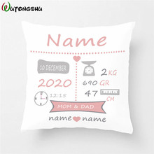 Get more info on the Baby Birth Gift Pillow Cases Personalized Birth Stats Pillow Cover Nursery Pillow New Baby Cushion Cover Children Chrismtas Gift