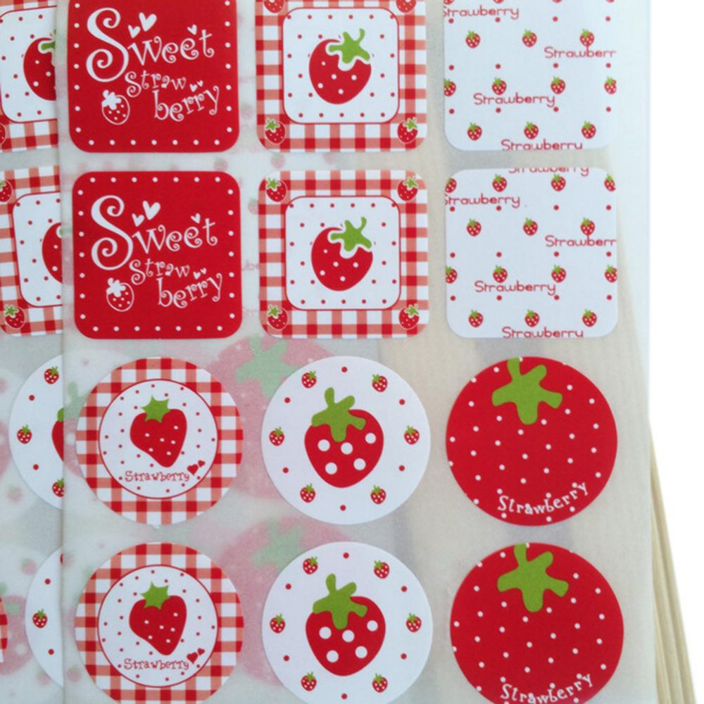Kawaii Sweet Strawberry Paper Food Sticker/Diary Deco Stickers/Cute Stationery Papelaria Material Escolar School Supplies 2sheet