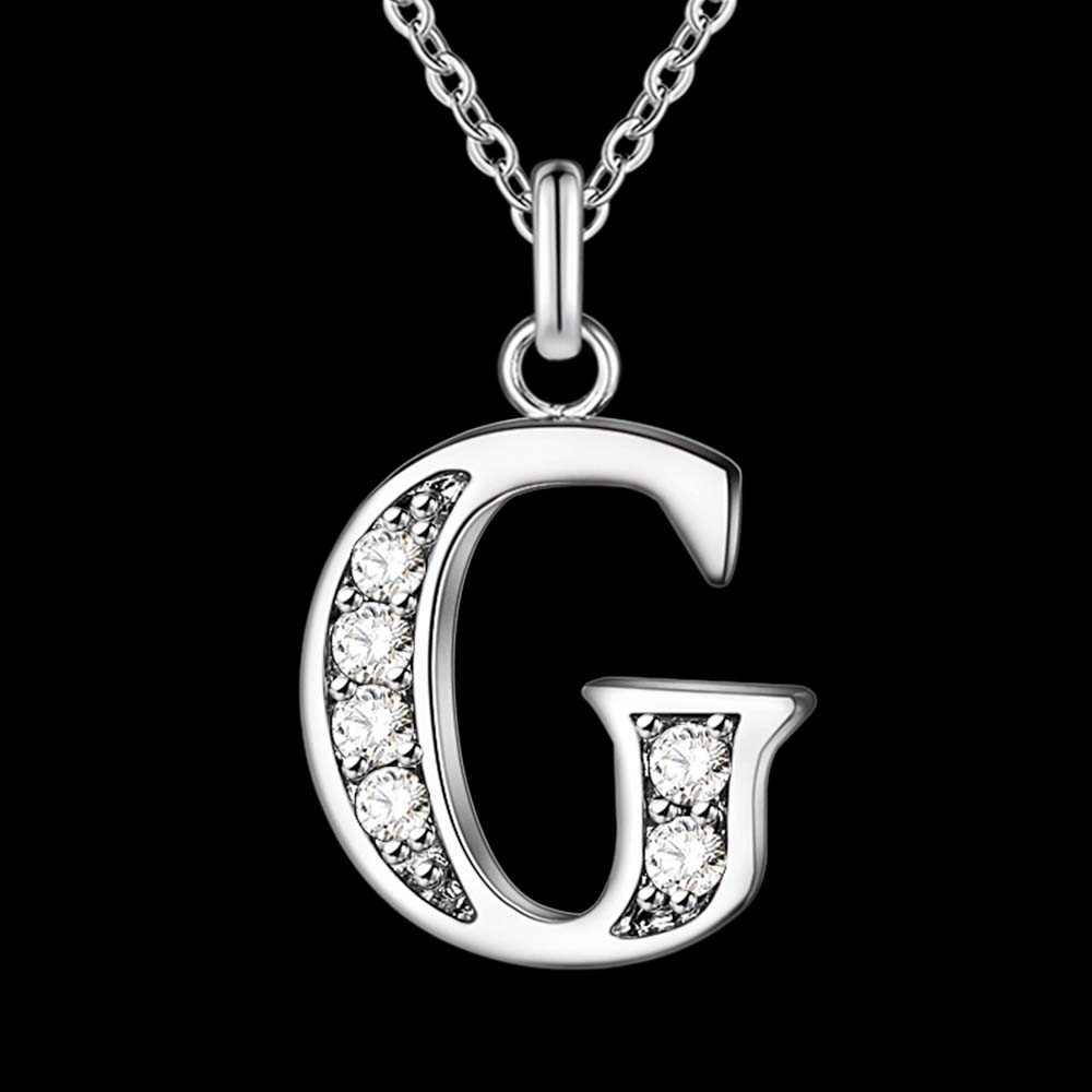 Carta A-S frete grátis banhado a prata colar, selo 925 moda prata jóias moda pingente/xylqnnag xylqnnag