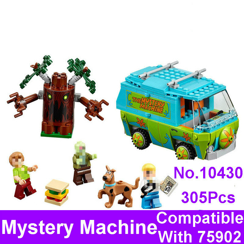 2017 New BELA 10430 Scooby Doo The Mystery Machine Bus Figure Set Building Bricks Blocks Compatible 75902 Toys For Children Gift ynynoo 305pcs 10430 the mystery machine scooby doo fred shaggy zombie zeke toys building blocks christmas gift sa562