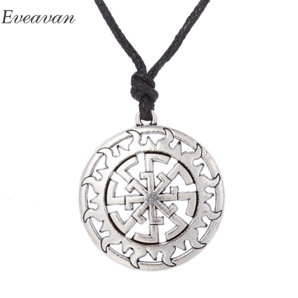 Jewelry & Accessories Eueavan 30pcs Vintage Wisdom Key Of Solomon Pendant Adjustable Rope Chain Jewelry Amulet Viking Jewelry For Men Women