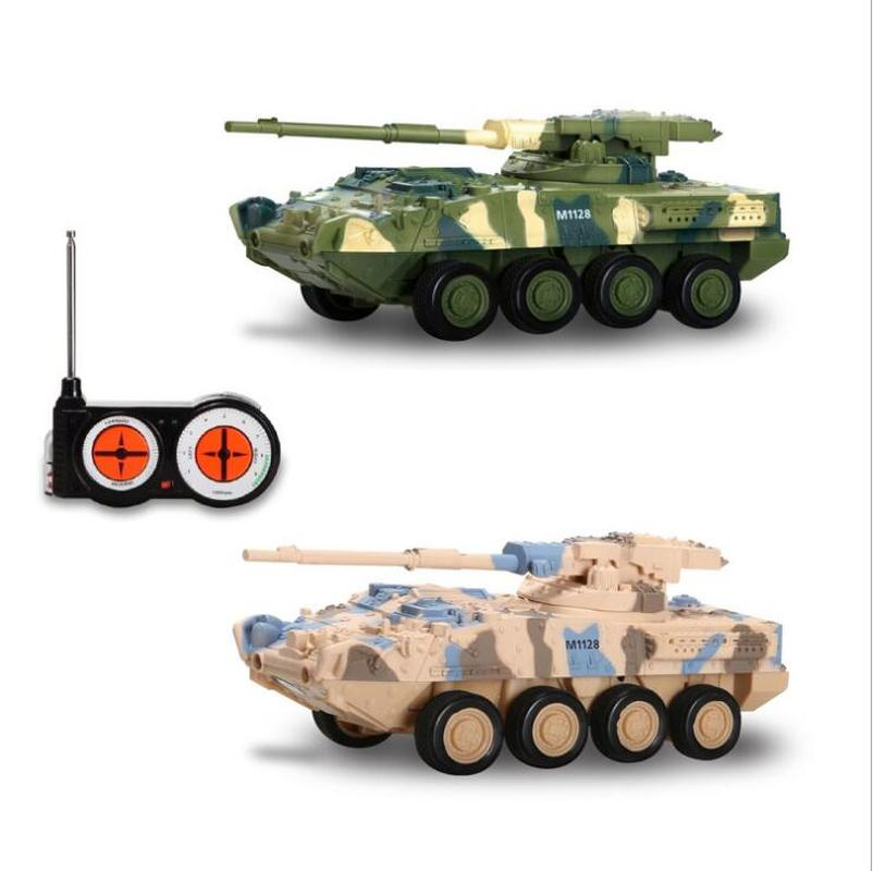 RC Toys Mini 4CH Remote Control Battle Tank Car RC Military Model Vehicle Electrict RC Tank Toys Christmas Gift for Kids