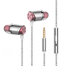 3.5mm jack Fone de Ouvido fashion baixo de metal Fone de Ouvido Fone de ouvido Intra-auriculares Com Microfone para mais jovens para honor 8x A7x OPPO xiaomi max 2 fone de ouvido