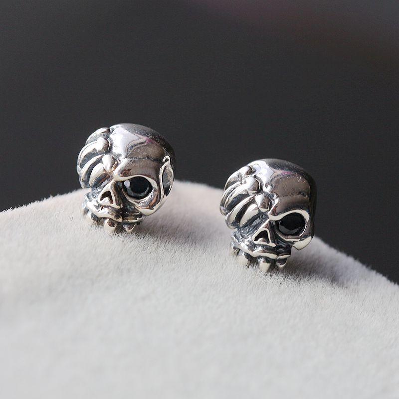 925 pure silver jewelry wholesale Vintage Mens Tremella Tremella nail punk Thai jewelry