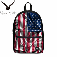 Hynes Eagle Hot Sale Country Flags Canvas Backpacks US UK CA DE Flag Canvas Backpacks For Teenagers School Laptop Backpack