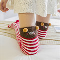 New Lovely Women's Stockings Velvet Knitted Stockings Autumn Winter Thick High Over Knees Panda Bear Cat Cartoon Sweet Stocking