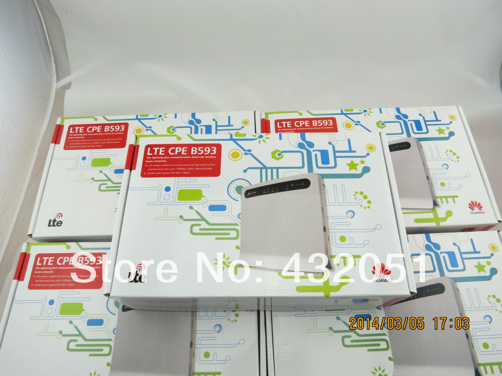 Unlock HUAWEI B593 LTE CPE Router 4G Router with SIM Card Slot