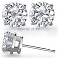 Fine Jewelry Moissanites Stud Earrings 14K Gold Earrings Total 1 Carat Diamond Lab Grown Gem 4-Prong Diamond Studs Brand Earring