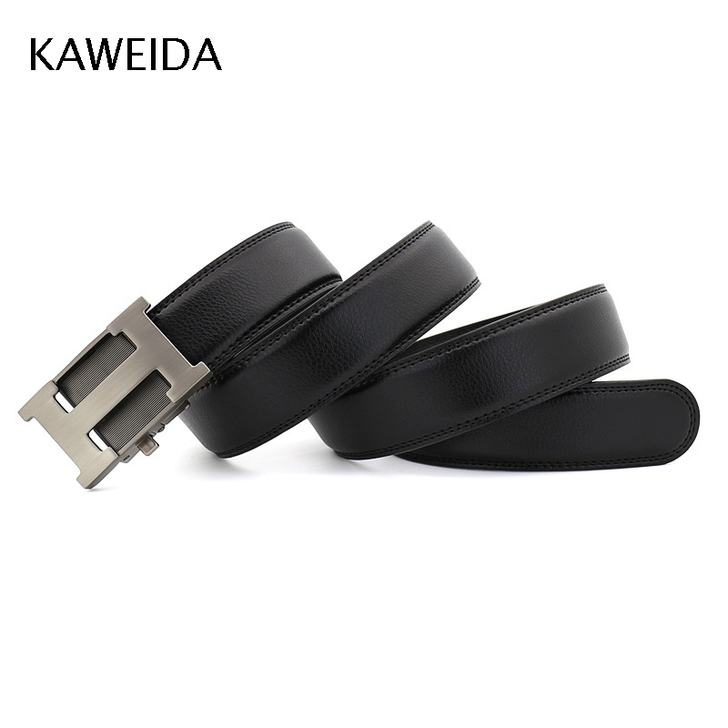 KAWEIDA Designer   Belts   for Men's 2019 Trending Luxury Automatic Buckle Waist   Belt   Famous Brand Genuine Leather Kemer Riem Cinto
