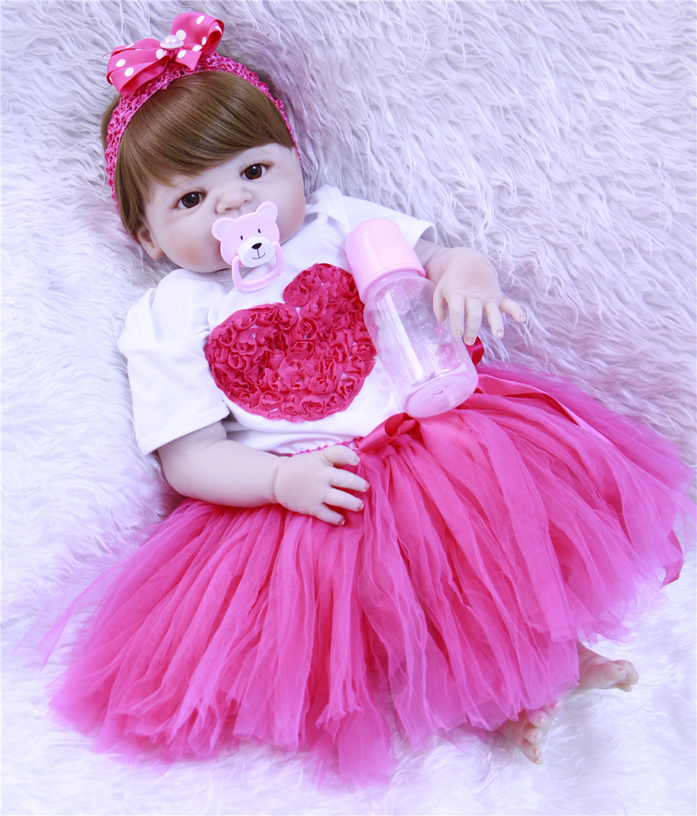 Bebe Reborn Girl Realtouch 55cm Silicone Adora Lifelike Bonecas Baby Newborn Realistic Magnetic Pacifier Dolls Babies Toy