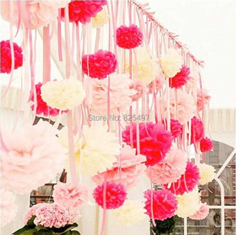 Aliexpress Buy Wedding Party Decoration Paper Flowers Pom Pom Scrapbook Paper Bouquet