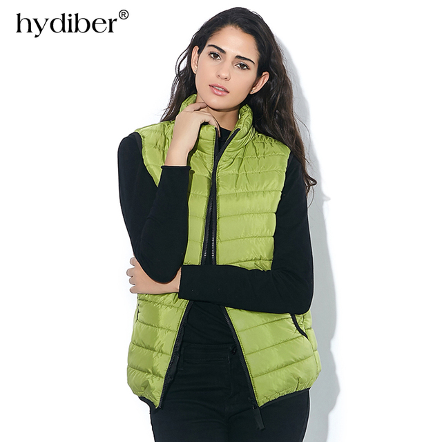 a89aa9cab27 Plus Size Autumn Winter Coat Women Ladies Gilet Colete Feminino Casual  Waistcoat Female Sleeveless Cotton Vest Jacket Z36