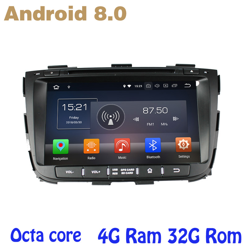 Octa core PX5 Android 8.0 car dvd gps for Kia Sorento 2013 2014 with 4G RAM 32G ROM wifi 4g usb auto Multimedia octa core px5 android 8 0 car dvd gps for hyundai ix45 santa fe 2013 2015 with 4g ram 32g rom radio wifi 4g usb auto multimedia