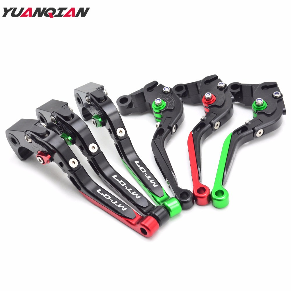MT-07 Logo Motorcycle Accessories Adjustable Folding Extendable Brake Clutch Levers For YAMAHA MT-07 MT 07 MT07 2014 2015 2016 billet alu folding adjustable brake clutch levers for motoguzzi griso 850 breva 1100 norge 1200 06 2013 07 08 1200 sport stelvio