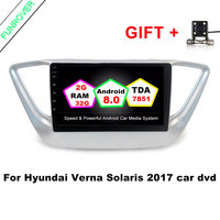 Funrover 9 Inch Android 8 0 2G 32G Car DVD GPS Player For Hyundai Verna Solaris