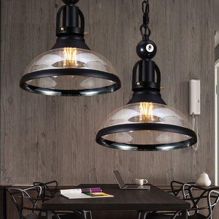 loft stijl glas ijzer retro hanger verlichting rh edison industrile vintage verlichting voor living eetkamer opknoping lamp in loft stijl glas ijzer retro