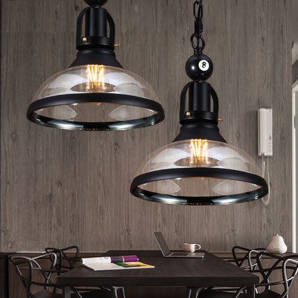 Loft Style Glass Iron Retro Pendant Light Fixtures RH Edison Industrial Vintage Lighting For Living Dining Room Hanging Lamp new loft vintage iron pendant light industrial lighting glass guard design bar cafe restaurant cage pendant lamp hanging lights