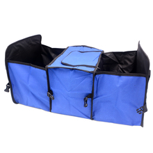 Automobile Trunk Storage Bag Oxford Cloth Folding Truck Storage Box Car Trunk Tidy Bag Organizer Storage Box With Insulation Bag