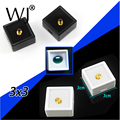 Elegance Black and White 3cmx3cm 35pcs/lot Loose Diamond Display Box Plastic Diamond Case Stone Storage Box Gem Organizer Holder