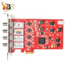 Четырехъядерный тюнер TBS6904 DVB-S S2 Quad тюнер карта pci-e для просмотра и Запись цифровой спутник FTA ТВ Каналы на ПК