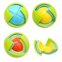 Creative 3D DIY Magic Intellect Puzzle Maze Ball Brain Teaser Educational Toys For Children Training Logical