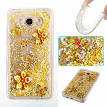 For Samsung Galaxy J7 2016 Case Luxury Glitter Dynamic Liquid Colorful Quicksand Love Sequins for J 7 J710