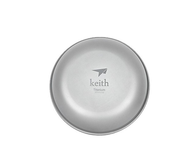 Keith Ti5363 New Titanium Plate Camping Plate Titanium Dish 37g KT363