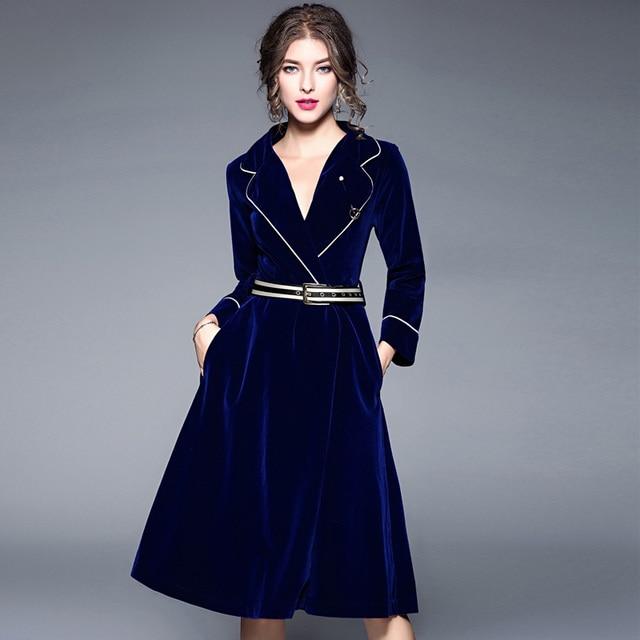 Vestido azul invierno