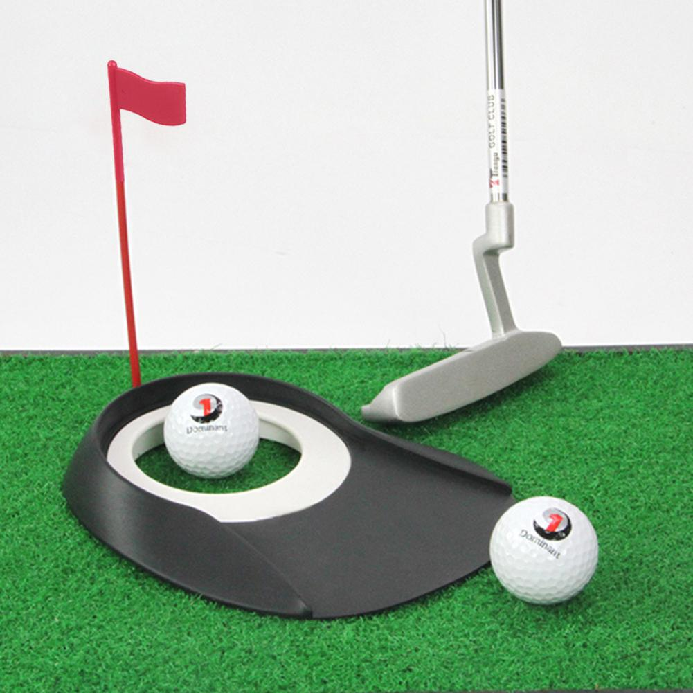 Golf Putting Regulation Cup Hole Flag Indoor Home Yard Outdoor Practice Training Trainer Aids Golf Accessories Golf Supplies 1