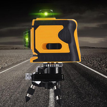 12Lines 3D Laser Level Automatically Levels 360 Degree Horizontal and Vertical Cross Indoor Outdoor Detectors