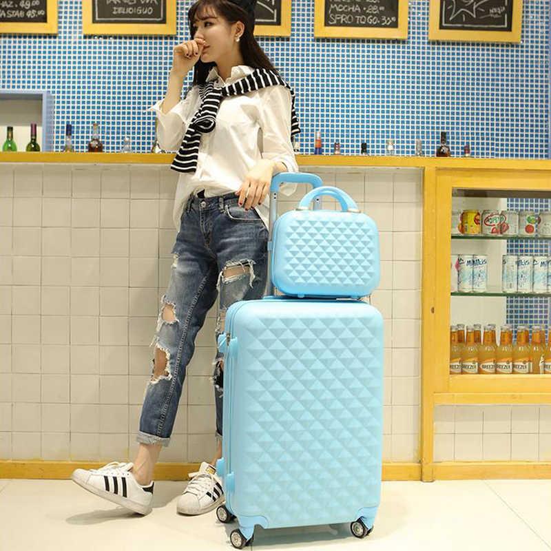 2 шт./компл. 14 дюймов косметичка 20 мм/22 мм/24/28 дюймов для девушек-студенток от чемодан на колёсиках для путешествий Спиннер чемодан для багажа на колесиках чемодан