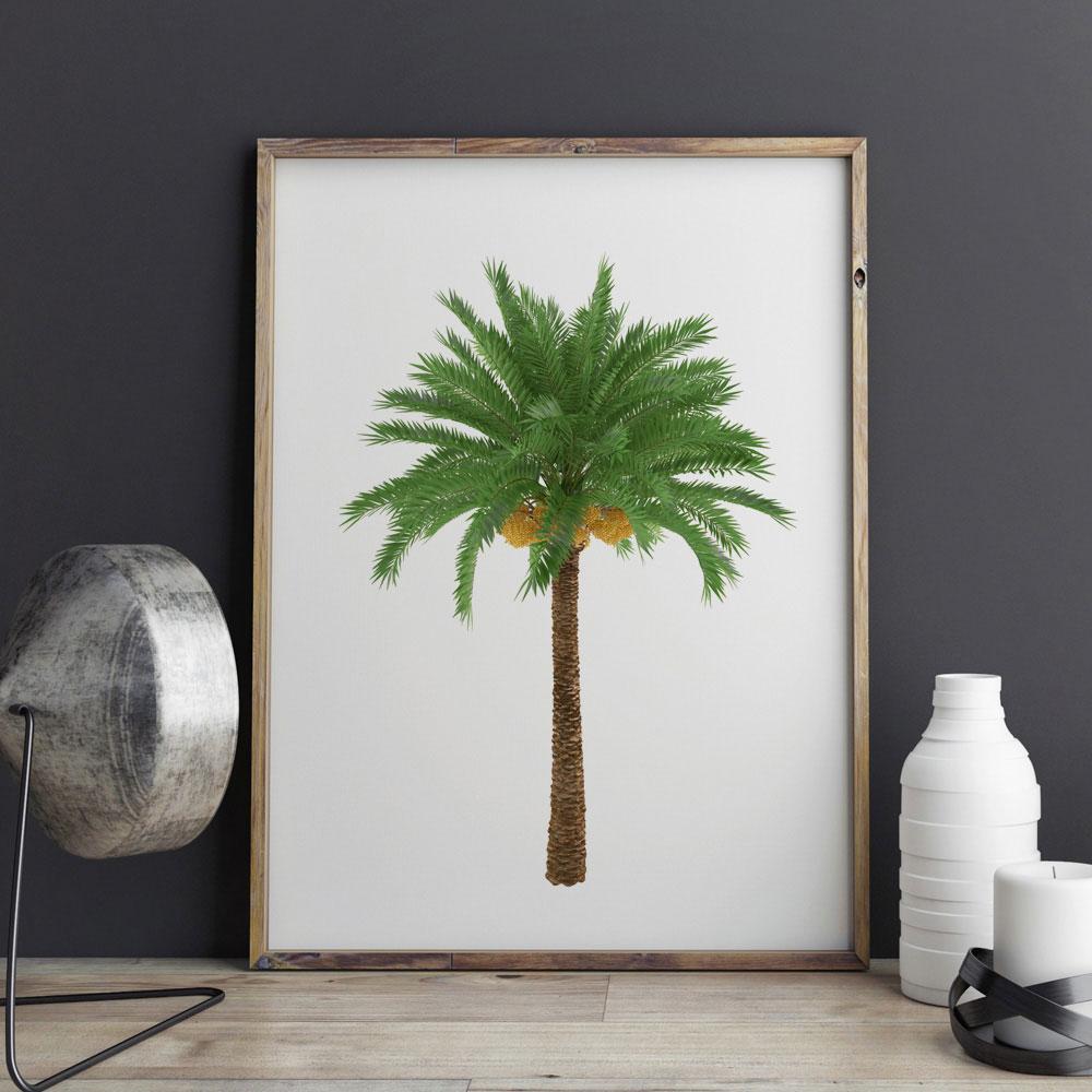 Palme Wandkunst Poster Palm Gärtnerei Kunst Geschenk Grünen Baum ...