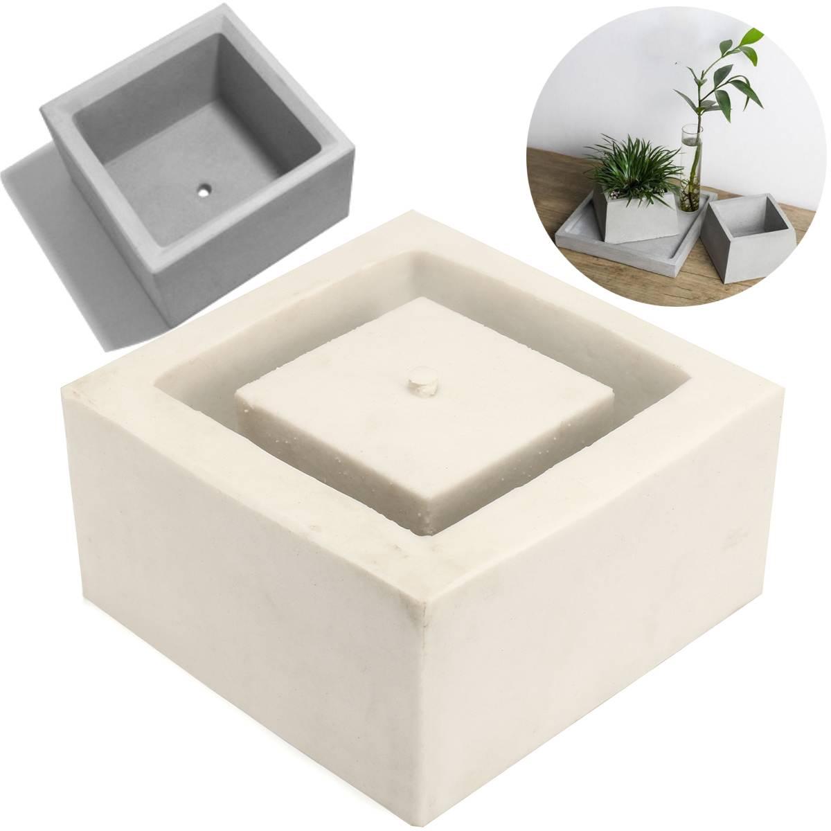 Pots d'argile en céramique moule planteur moule en Silicone pour la décoration de la maison artisanat de Table faisant des moules de Pot de fleur moules en béton de Silicone