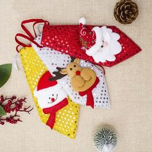 Рождественский галстук для мальчиков; Новинка; Галстуки для детей; Детский галстук Санта-Клауса, снеговика, лося; праздничный подарок; вечерние украшения для танцев