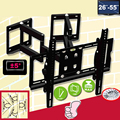 "26-55"" Heavy Duty Wall Corner TV Mount Flexible Full Motion Swing Arm Bracket   EMP-522ST2"
