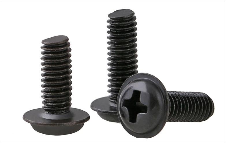 Round head screws washer cap M2 M2.5 M3 M4 M3*5 screws PC CD-ROM drive Screw carbon steel black PWM screwsRound head screws washer cap M2 M2.5 M3 M4 M3*5 screws PC CD-ROM drive Screw carbon steel black PWM screws
