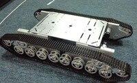 Doit T800 Сплав серебра DIY бак шасси с 4 Двигатели robbot шасси большой Размеры