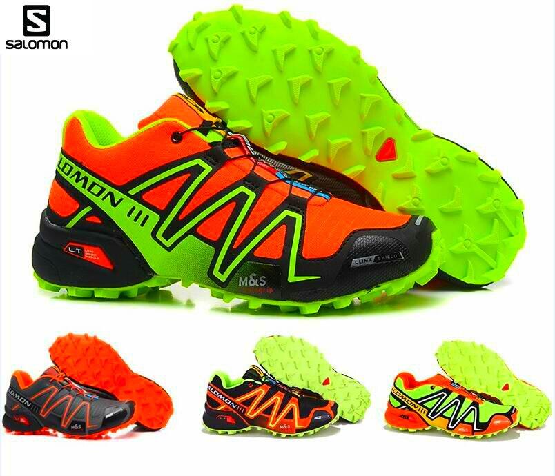 2018 Salomon SPEEDCROSS 3 flyknit Brand Sport For Men Running Zapatillas Sport Outdoor Outdoor Sport  Breathable Running Shoes
