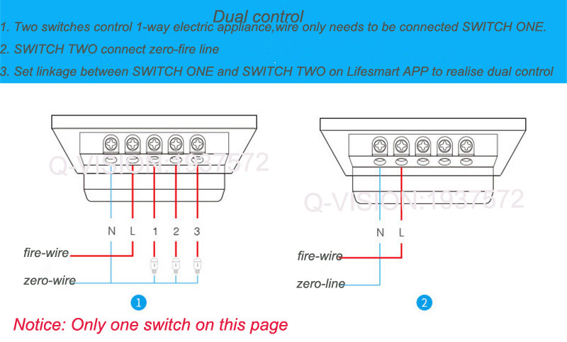 Lifesmart UK Type Blend Streamer Smart Switch Cell Phone APP Remote Control 16 million Color RF433 AC220V Smart Home IOS Android-14