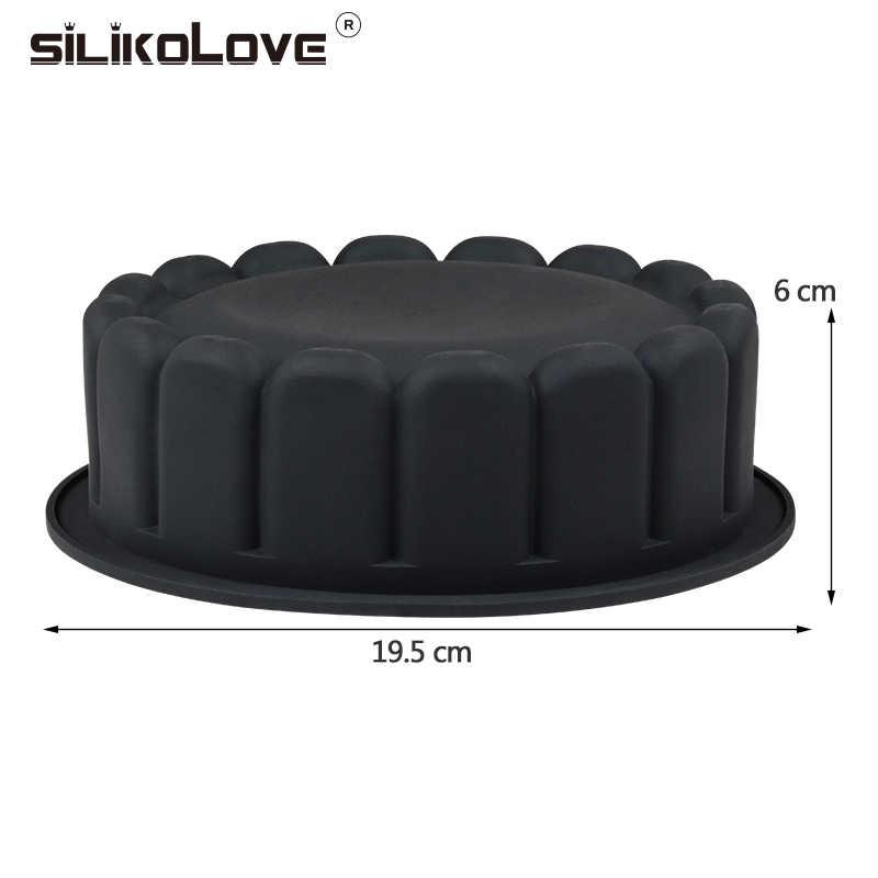 SILIKOLOVE חתונה טופס עוגה לקשט עובש 3d סיליקון עובש עוגה עגול גדול אפיית כלי מגש בישול שאינו מקל ה-FDA בטוח