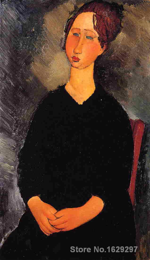 Modern painting abstract Little Serving Woman by Amedeo Modigliani High quality Hand paintedModern painting abstract Little Serving Woman by Amedeo Modigliani High quality Hand painted