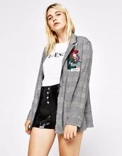 THYY 2018 Spring Full Plaid Autumn Coat Blazer Women Suit Ladies Refresh Blazers Comfortable Women's Blazers Free Shipping A110