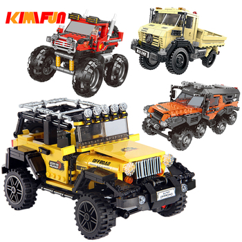 500+pcs Car Series All Terrain Vehicle Set Building Blocks Model Bricks Toys For Kids Educational Gifts  Compatible with Block ausini building block set compatible with lego pirates series 158 3d construction brick educational hobbies toys for kids page 2