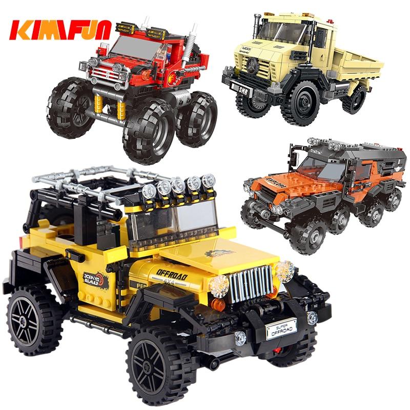 500 + pcs Conjunto de Blocos de Construção do Modelo de Série Do Carro Veículo Todo O Terreno de Tijolos Brinquedos Para As Crianças Presentes Educacionais Compatíveis com legoing
