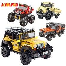 Conjunto de vehículos todo terreno para niños, más de 500 Uds. Serie de coches, modelo de bloques de construcción, piezas, juguetes para niños, regalos educativos compatibles con bloques