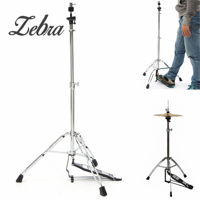 Zebra 24-39 inch Hi-Hat Stand-Griffin HiHat Cymbal Hardware Drum Pedal Holder Mount For Percussion Musical Instruments Parts хай хэт и контроллер для электронной ударной установки roland fd 9 hi hat controller pedal