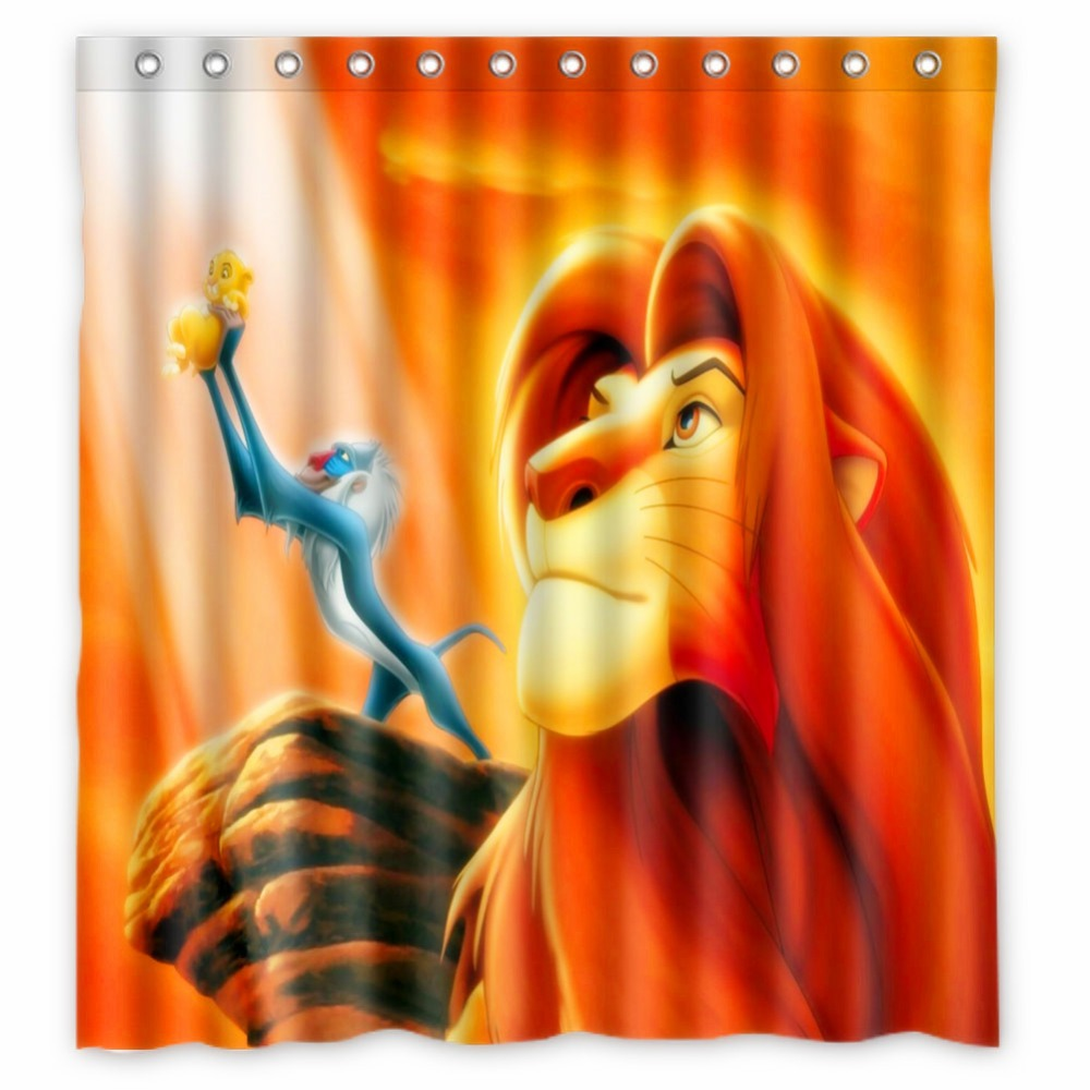 Vixm Home Cartoon Shower Curtains The Lion King Bathroom