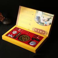 Chinese Calligraphy Writing Brushes Ink Stick Stone Stamp Set Training Tool