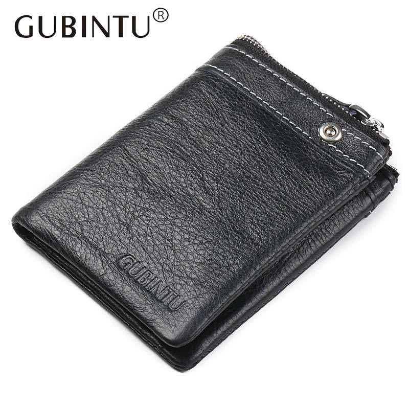 100% Genuine Leather Wallet with Card Holder Vintage Short Zipper Wallets for Men Fashion Brand Carteras Walet Male Purse