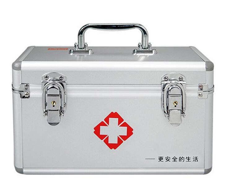 Medium-sized comprehensive first-aid kit Home office factory aluminum alloy medical box : 91lifestyle